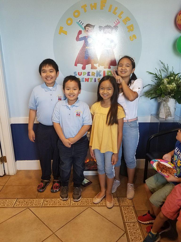 Kids enjoying the opening